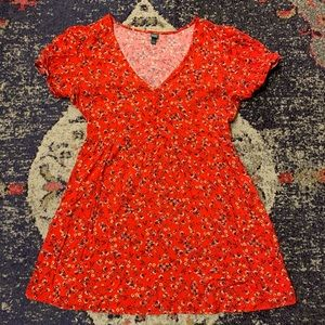 NWOT Tiny Floral Print Babydoll Dress Wild Fable